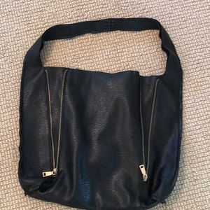 Free people vegan leather zipper shoulder bag